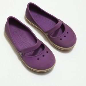 Crocs purple Mary Jane style size 10